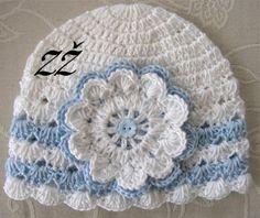 Jarní/podzimní čepička bílá s modrými proužky Crochet Hats, Beanie, Fashion, Knitting Hats, Moda, La Mode, Fasion, Beanies, Fashion Models