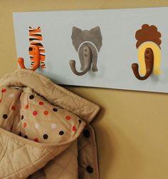 Hanger animals for backpacks!  So cute!