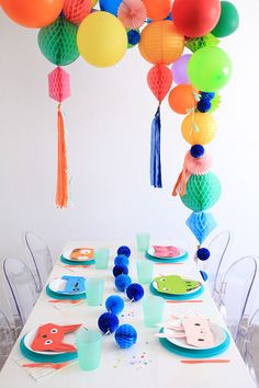 Modern balloon animal birthday party