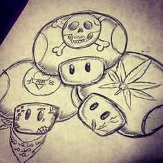 Image result for mario character drawings Trippy Drawings, Graffiti Drawing, Tattoo Design Drawings, Graffiti Lettering, Art Drawings Sketches, Graffiti Art, Cute Drawings, Sketch Drawing, Hellboy Tattoo