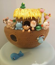 Noah's boat in polimery clay