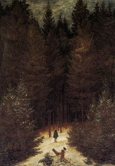 FRIEDRICH, Caspar David The Chasseur in the Forest 1814 Oil on canvas, 66 x 47 cm Private collection