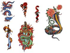 "For many people, snakes, bugs and other ""critters"" are repulsive but for many people they have an entirely different meaning altogether. Snake tattoos are often a personal expression that can represent many things but it . Snake Tattoo, Tattoo Designs, Tattoos, Ideas, Cobra Tattoo, Tatuajes, Tattoo, Japanese Tattoos, Tattooed Guys"