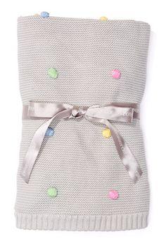 Baby Unisex Pom Pom Blanket