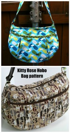 Sewing pattern for a casual hobo bog. This everyday purse to sew is great for work days, date nights and weekends. It's a hobo bag to DIY with a nice curved top. This hobo bag sewing pattern comes in three different sizes to suit every body, every day and every sewer. #SewModernBags #SewABag #SewAHoboBag #BagSewingPattern #HoboBagSewingPattern Hobo Bag Patterns, Handbag Patterns, Wallet Sewing Pattern, Sewing Patterns, Simple Bags, Best Bags, Medium Bags, Keychains, Purses And Handbags