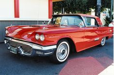 1958 Ford Thunderbird- nice- color, year, the interior was 2 tone leather