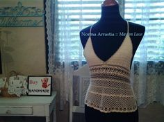 Crocheted halter top By Norma Arrastia :: Mayim Lace