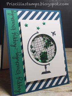Let's move away from Christmas for a few days. I've been very busy with family events--birthdays and anniversaries--October is one of those. Masculine Birthday Cards, Masculine Cards, Fall Cards, Christmas Cards, Kids Cards, Men's Cards, Geometric Drawing, Cricut Craft Room, Travel Cards