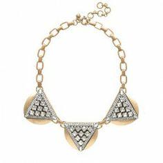 J.Crew Crystal Triangles Necklace Original $135 Now $79