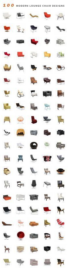 100 modelos de cadeiras. Lindas! Mais