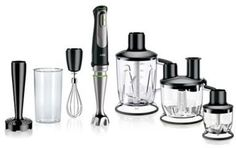 $199.99 - Braun Handblender in Black/Stainless Steel - Boasting 700 watts of blending power, the revolutionary Braun Handblender makes quick work of even the toughest blending jobs. Featuring premium blending blades, this handblender comes with 6 attachments for added blending functionalities.