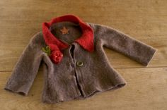This felted sweater is super cute!