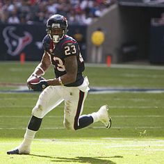 Arian Foster- Houston Texan  When he was young his mother had to pawn her wedding band to buy food...In March '12 he signed a $43.5 million contract with the Houston Texans. Karma.