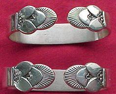 Georg Jensen napkin rings in my favorite pattern, Cactus