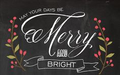 Merry and Bright Chalboard Art