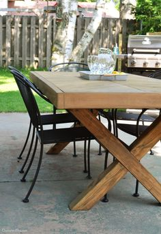 Farmhouse Picnic Table Plan Patio Dining Table Benches