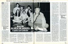 """Naum Alves de Souza - """"O Palco por Paixão"""" - reportagem na revista """"Manchete"""" de 1983 - página 1/1."""