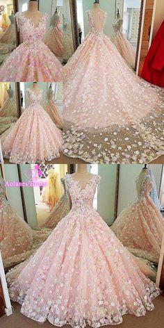 Vestido De Novia 2017 See Through Sleeveless Lace Elegant Wedding Dress Pink Vintage Bridal Gown Custom Made Robe De Mariage