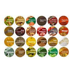 Etykiety przypraw - Hledat Googlem Spice Jar Labels, Spice Jars, Spices, Turmeric, Spice