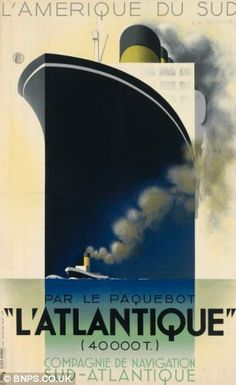 Poster of 'L'Atlantique' from 1931 valued at £20,000