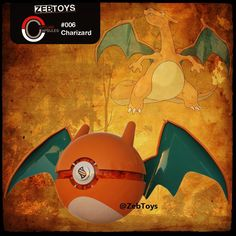 #006 Charizard Ball Charizard flies around the sky in search of powerful opponents. It breathes fire of such great heat that it melts anything. However it never turns its fiery breath on any opponent weaker than itself. #Pokemon #Pokémon #PokemonGo #PokémonGo #FireRed #Pokeball #Pokéball #CustomPokeball #CustomPokéball #CustomPokeballs #nintendo #FanArt #3DS #CAD #ProductDesign #ProductDesigner #Toys #Charmander #Charmeleon #Charizard #MegaCharizard #Nerd #Geek #collectibles #collection…
