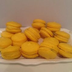 I am a domestic goddess! Passionfruit macarons made by me!
