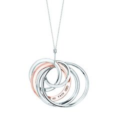 Tiffany 1837™ interlocking circles pendant in RUBEDO® metal and sterling silver…