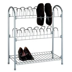 Organize It All 17704W-1 - 12 Pair Shoe Rack with Shelf | Sale Price: $45.99
