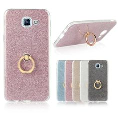 Glitter Bling Cover For Samsung Galaxy A3 A5 A7 A8 2015 Luxury Phone Cases Soft TPU Ring Coque For Samsung A3 A5 A7 A8 2016 2017