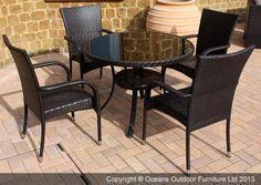 Unbranded - Dunloe 5 Piece Dining Set | Oceans Outdoor Furniture Ltd