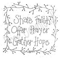 Compartilhar Fé Oferecer Oração Juntar Esperança
