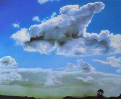 Catherine Ocholla: The Outpost II: fine art | StateoftheART Deep Shadow Box, Shadow Box Frames, Landscape Paintings, Original Artwork, Clouds, Fine Art, Artist, Outdoor, Outdoors