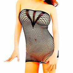 Daisland Womens Strapless Mesh Hole Chemise Lingerie Mini Dress for Sex. Size: one size fits US Size XS, S, M L XL 2XL 3XL. Very stretchy. Material: polyester, etc, soft and comfortable to wear. Super sexy, more attractive, spicing up your sex life. Wash ways: hand-wash with cold water, or machine-wash with laundry bags to protect the lingerie. Package included: 1 body stocking. Jewelry, bra, underwear, and other accessories in the pictures are excluded in this item. Shipping and…