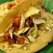 BAJA CHIPOTLE FISH TACOS: A classy way to serve tacos with homemade spicy sauce  #fish #tacos