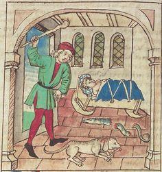 Antonius <von Pforr> Buch der Beispiele — Schwaben, um 1480/1490 Cod. Pal. germ. 85 Folio 147v