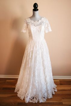 Bridal Bliss Designs Vintage Inspired Lace Dress with Sleeves