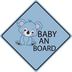 Autosticker Koala Teddy - Baby an Bord Baby An Bord, Shops, Autos, Madness, Sticker, Tents, Retail, Retail Stores