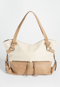two tone satchel (original price, $44.00) available at #Maurices
