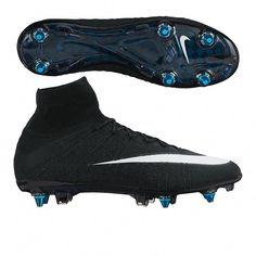44b6c1de0204 Nike Mercurial SuperFly IV CR7 SG-Pro Soccer Cleats (Black White)
