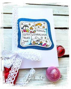 Weihnachtskarte im Mosaik-Stil stempeln - www.kreativ-zauber.de