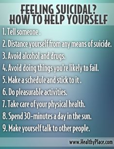 how to help a teenager who has suicidal thoughts