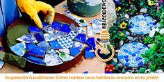 Llana, espátula y esponja: Cómo realizar unas baldosas-mosaico en tu jardín