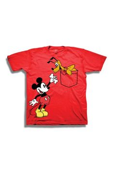 Mickey Mouse & Pluto in Pocket Tee (Toddler Boys) by FREEZE on @HauteLook
