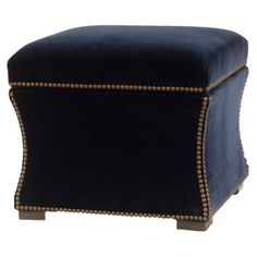 Check out this item at One Kings Lane! Claire Storage Ottoman, Navy