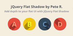 jQuery Flat Shadow - Create Long Shadows Flat UI #jqueryplugins