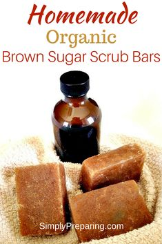 An easy DIY Tutorial oue Homemade Organic Brown Sugar Scrub Bar will become your new favorite! Exfoliate your skin while leaving it soft and moisturized. One of our favorite natural beauty recipes with essential oils. Sugar Scrub Recipe, Sugar Scrub Diy, Diy Scrub, Sugar Scrubs, Salt Recipe, Zucker Schrubben Diy, Sugar Soap, Brown Sugar Scrub, Coffee Face Scrub