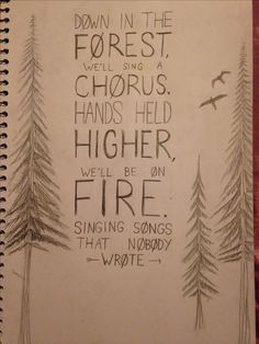 (fan lyric art) Lyrics from 'forest' by twenty one pilots. by @maya876876