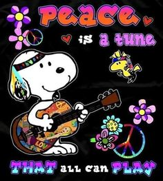 """Does anyone remember, """"peace, love and Bobby Sherman""""? Hippie Peace, Happy Hippie, Hippie Love, Hippie Vibes, Hippie Chick, Snoopy Images, Snoopy Pictures, Snoopy Love, Snoopy And Woodstock"""