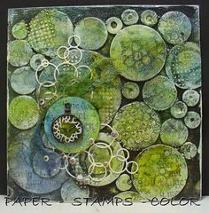 PAPER - STAMPS - COLOR: Art Journal page with theme - Circles