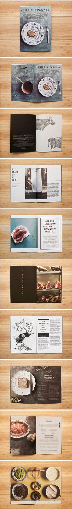 Chef's Special #70 - page layout magazine spread